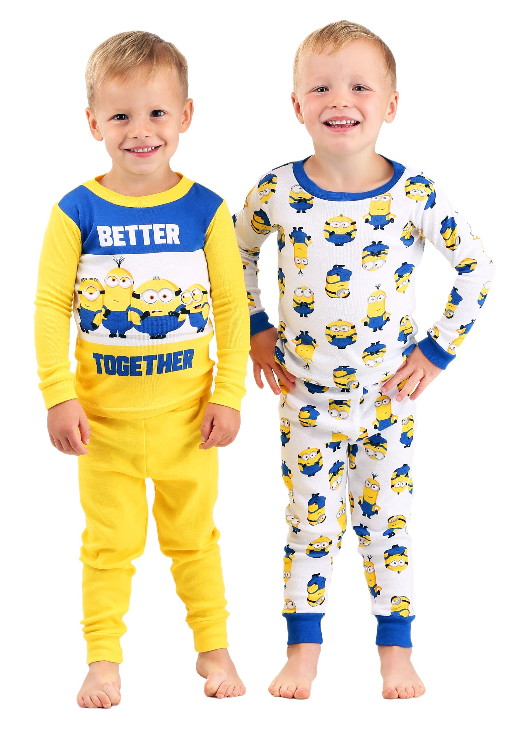 Minions 4 Piece Sleepwear Set for Toddlers