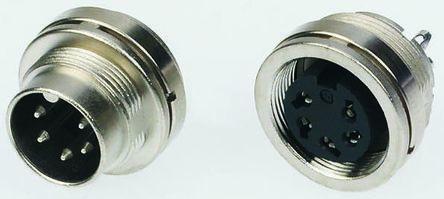 Binder Connector, 16 contacts Panel Mount Miniature Socket, Solder IP40