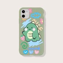 Dinosaur Cartoon Graphic iPhone Case