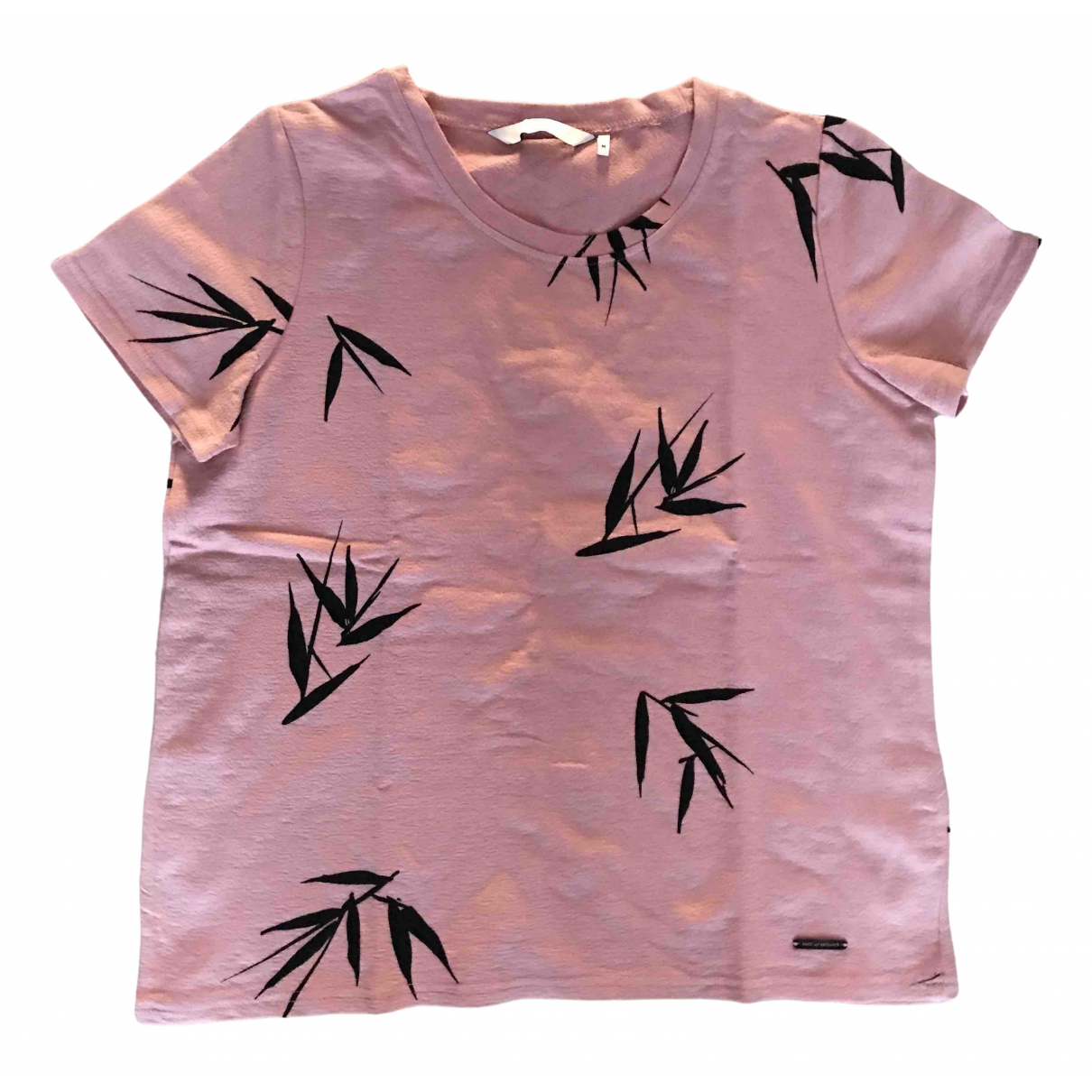 Non Signé / Unsigned \N Pink Cotton  top for Women 42 IT
