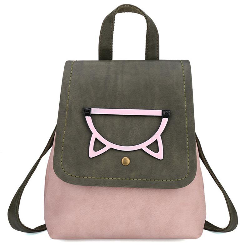 Ericdress PU Color Block Backpacks