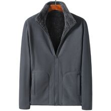 Guys Solid Teddy Lined Jacket