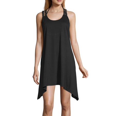 Porto Cruz Dress Swimsuit Cover-Up, Medium , Black