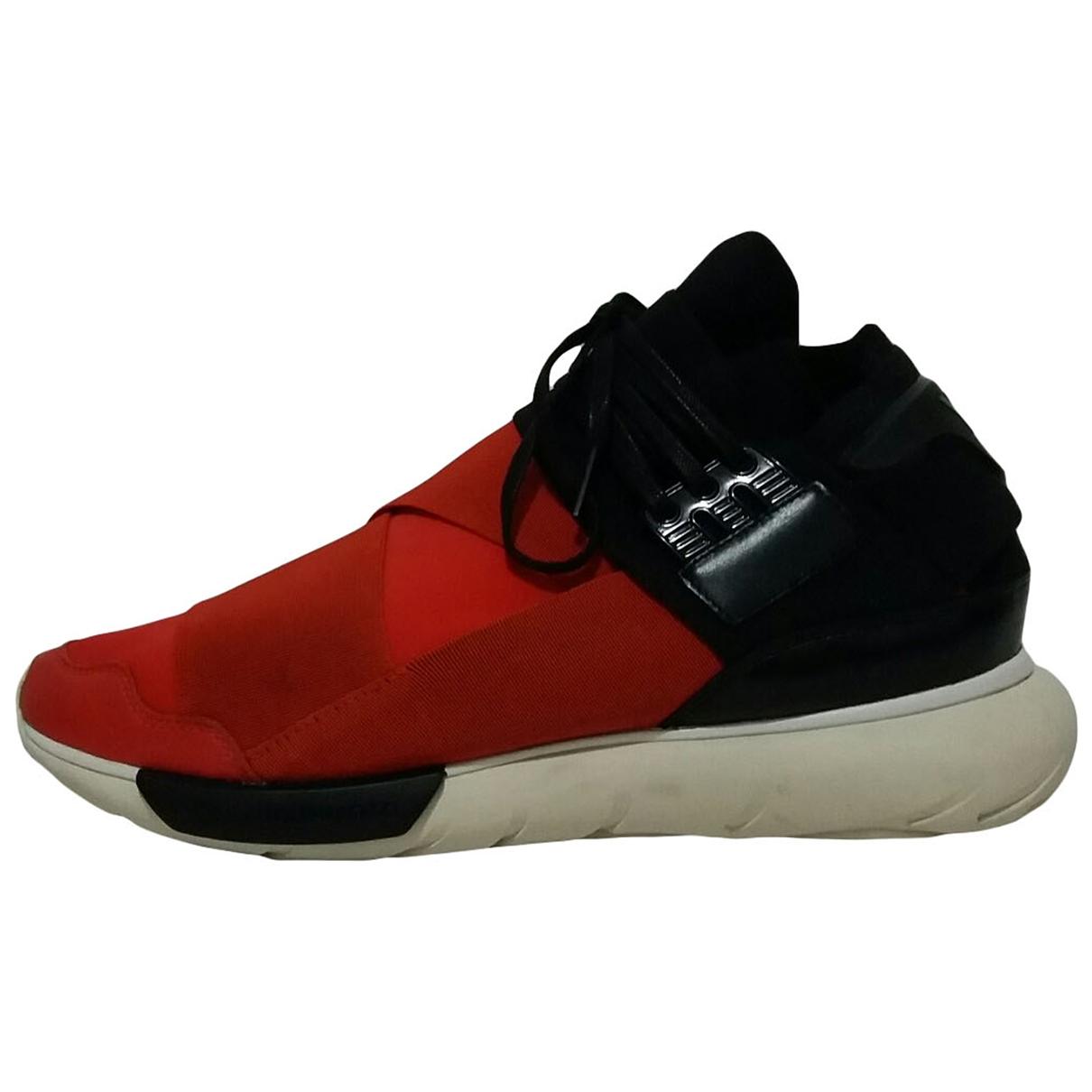 Y-3 - Baskets   pour homme en toile - rouge