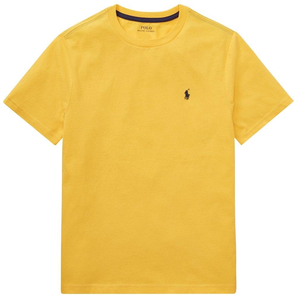 Ralph Lauren Kids Logo T-Shirt Yellow Colour: YELLOW, Size: 4 YEARS