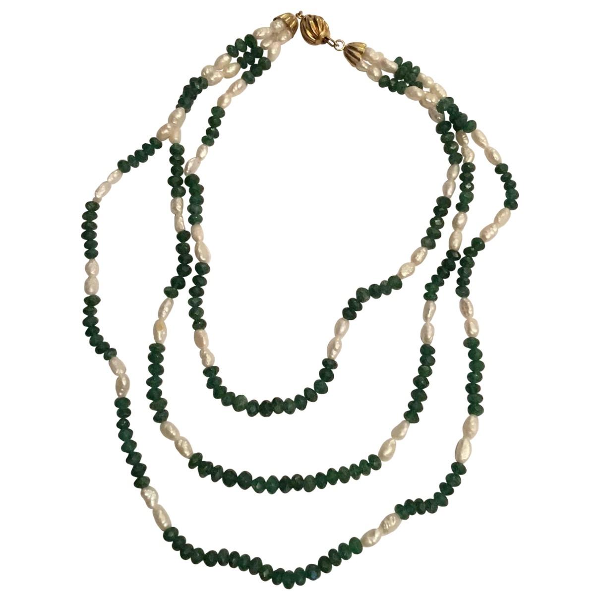 - Collier Emeraude pour femme en perles