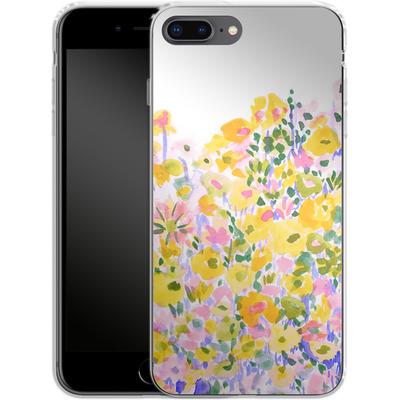 Apple iPhone 7 Plus Silikon Handyhuelle - Flower Fields Sunshine von Amy Sia