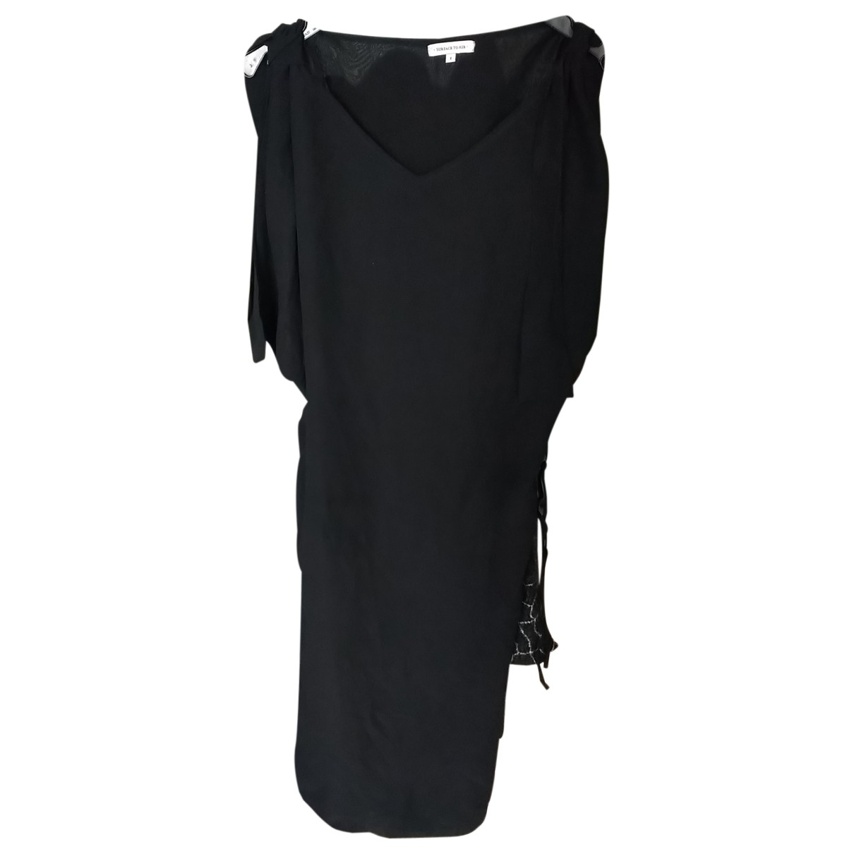 Surface To Air \N Black Silk dress for Women 36 FR