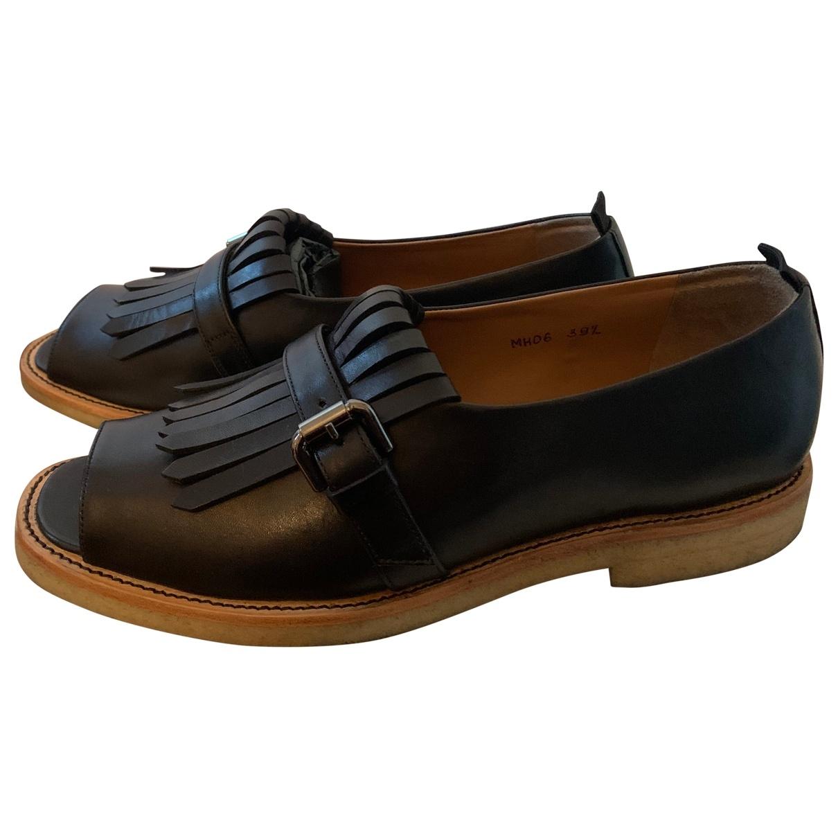 Margaret Howell \N Blue Leather Flats for Women 39.5 EU