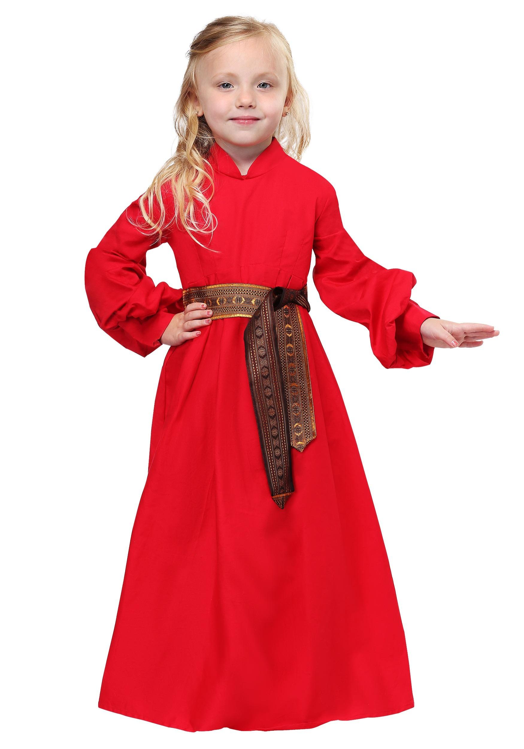Girls Princess Bride Buttercup Peasant Dress