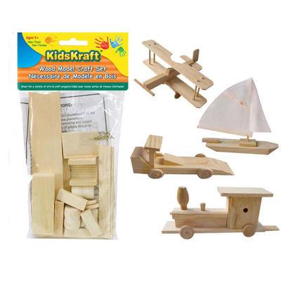 Kits d'activités artisanales en bois naturel pour enfants, 1 style aléatoire par paquet