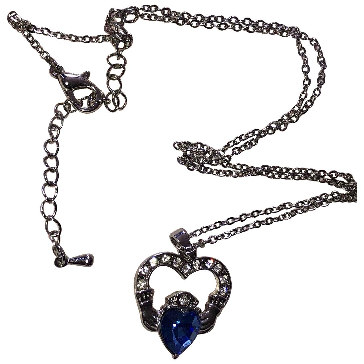 - Collier Motifs Coeurs pour femme en plaque or - blanc