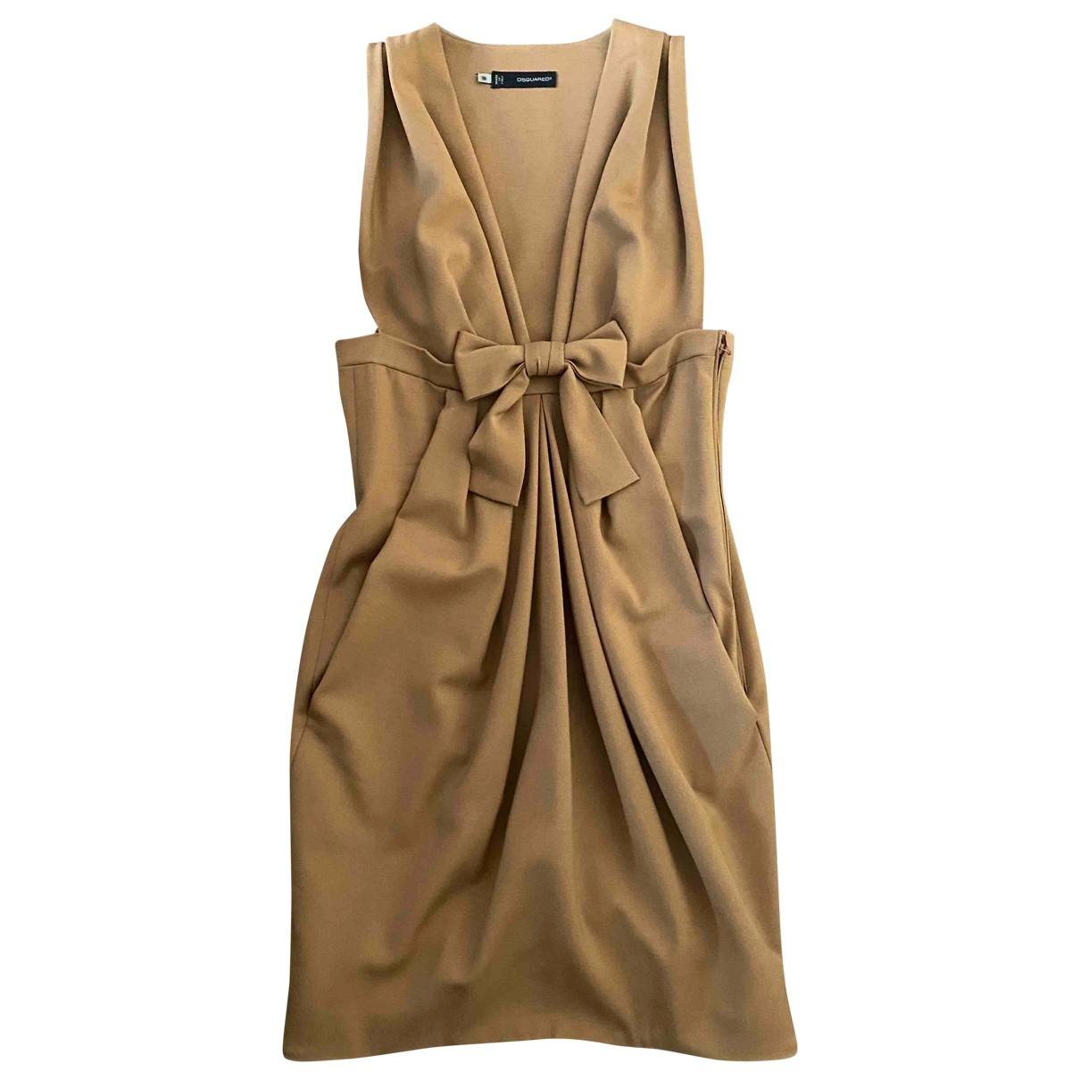 Dsquared2 \N Kleid in  Kamel Wolle