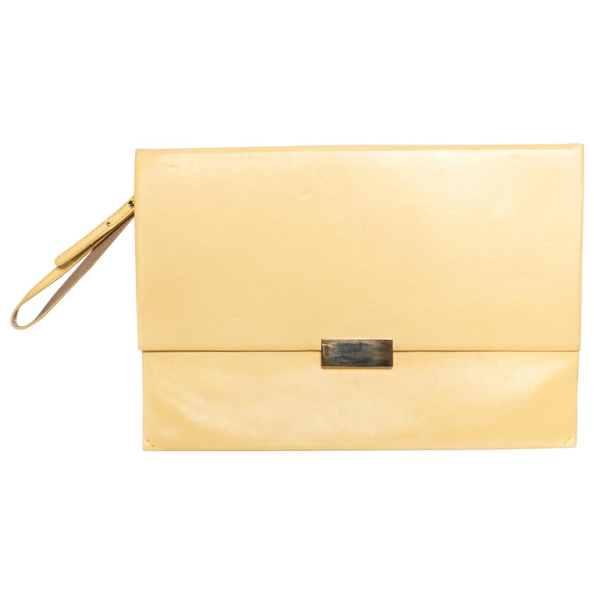 Stella Mccartney \N Yellow Leather Clutch bag for Women \N