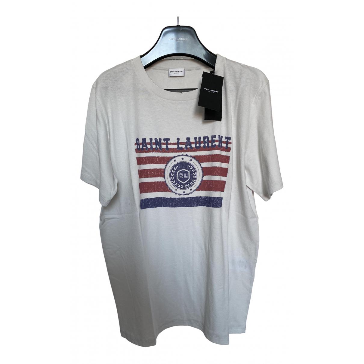 Saint Laurent \N White Cotton T-shirts for Men L International