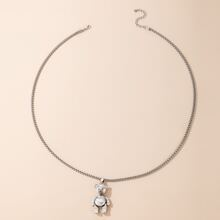 Guys Bear Pendant Necklace