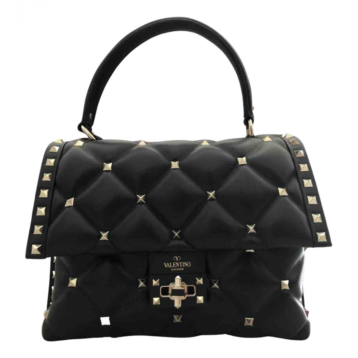 Valentino Garavani CandyStud Black Leather handbag for Women N