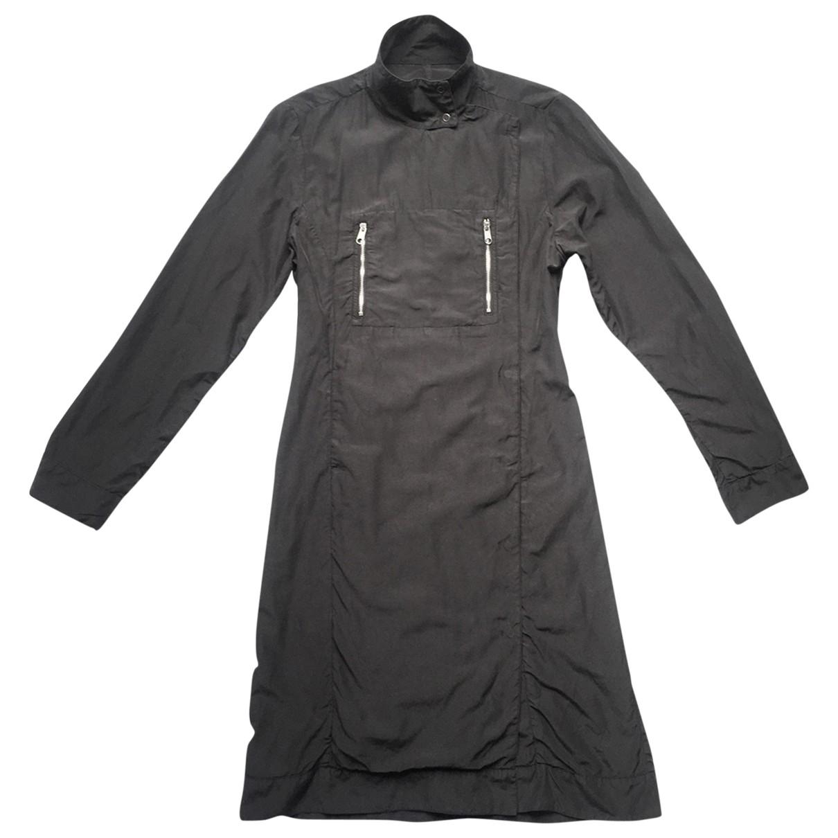 Maison Martin Margiela - Manteau   pour femme en soie - noir