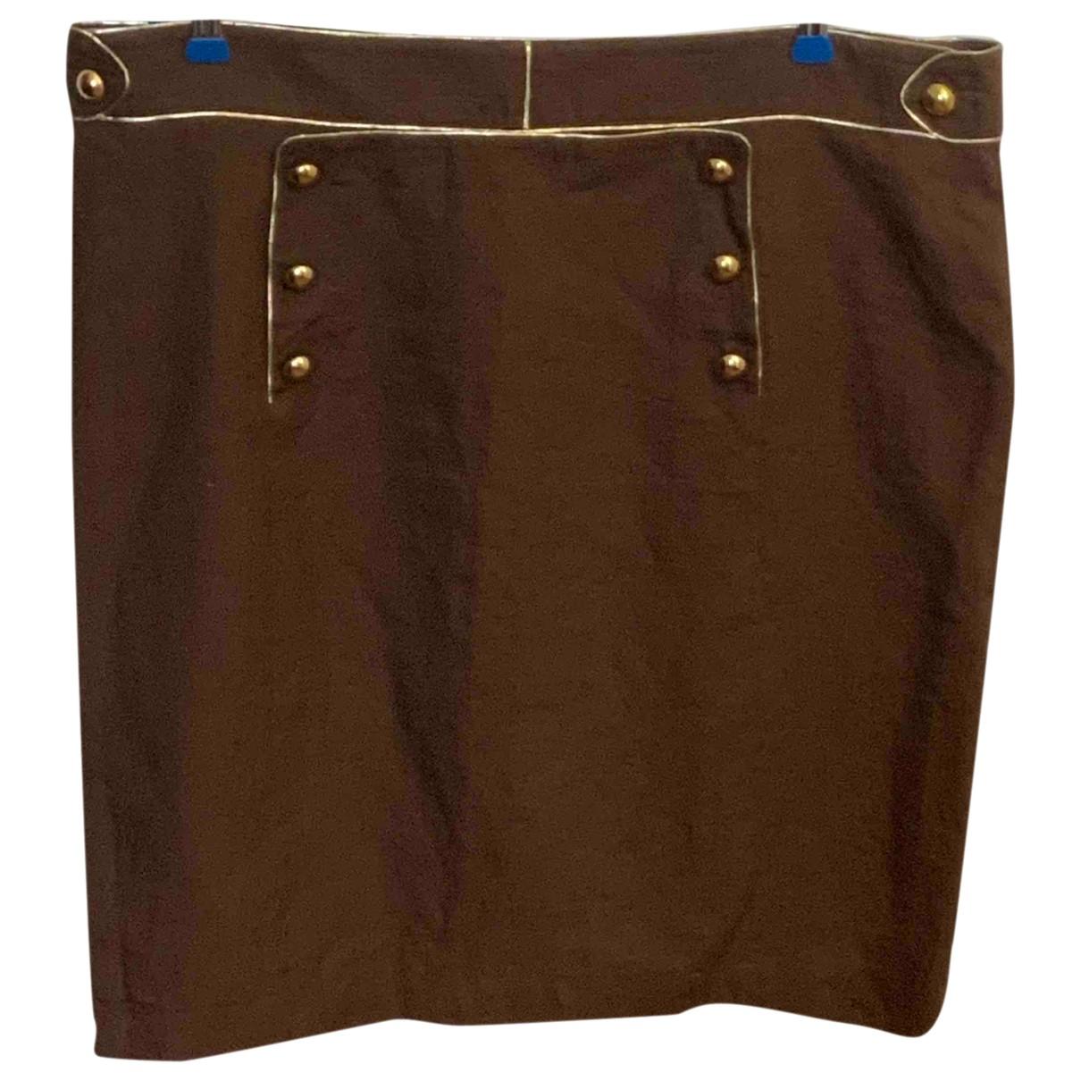 Inès De La Fressange Paris \N Brown Linen skirt for Women 48 FR