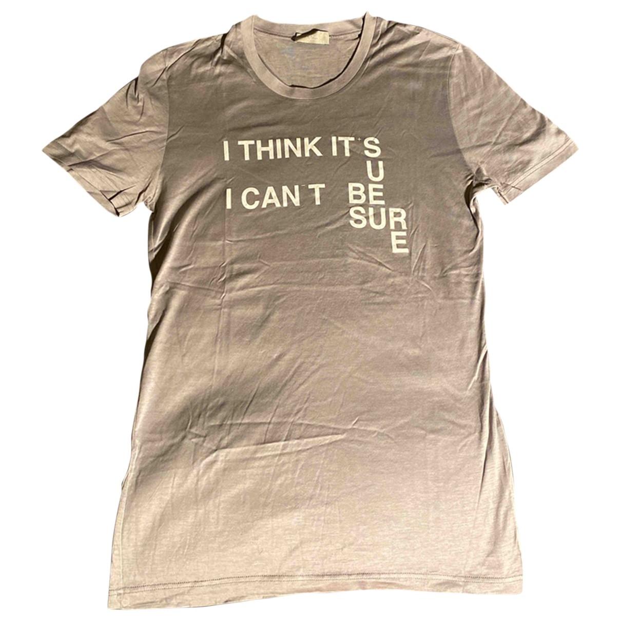 Dior Homme \N T-Shirts in  Grau Baumwolle