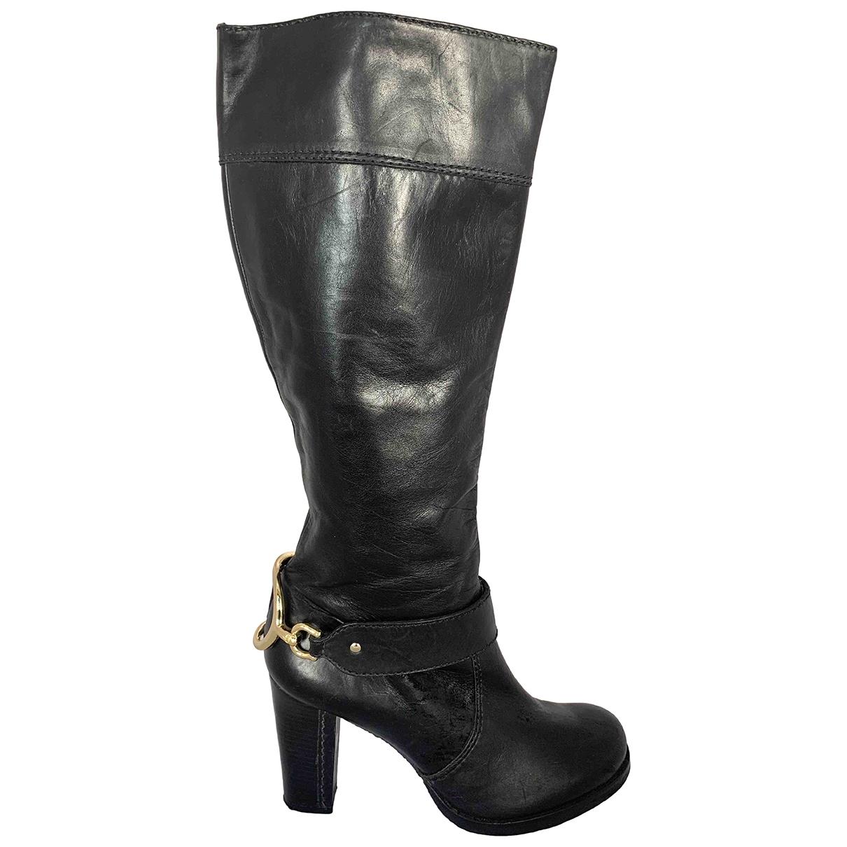 Juicy Couture \N Stiefel in  Schwarz Leder