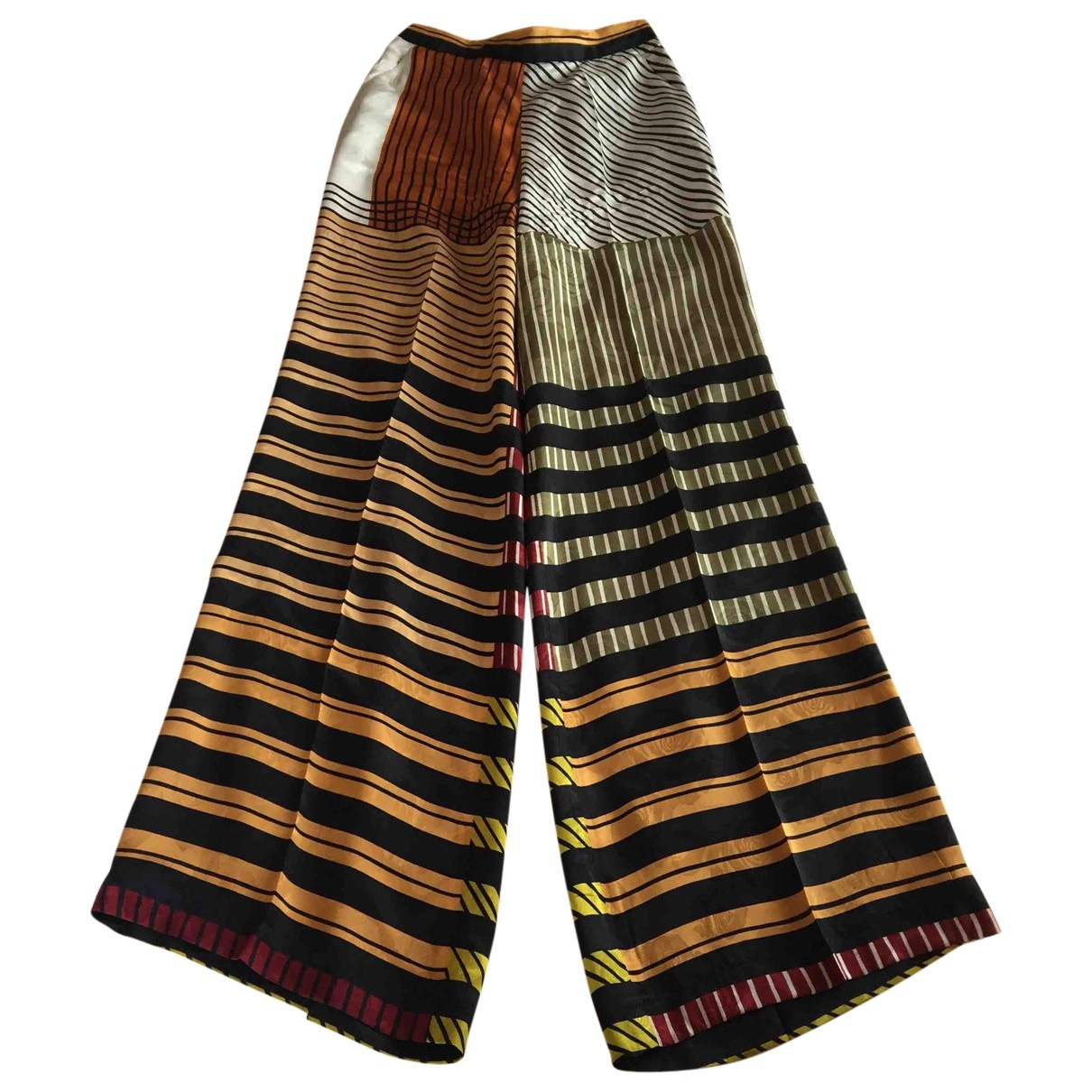 Etro \N Multicolour Silk Trousers for Women 40 IT