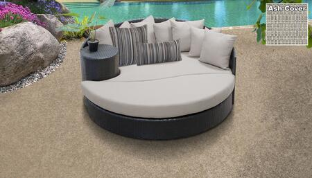 Belle BELLE-SUN-BED-ASH 1 Sun Bed with 4 Large pillows   3 Regular pillows - Wheat and Ash