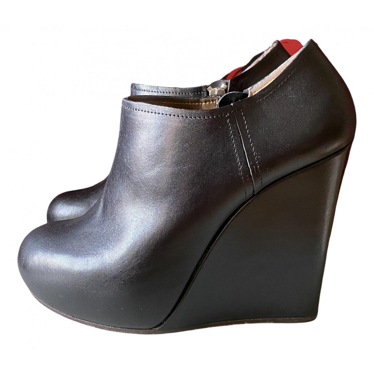 Marni \N Stiefeletten in  Schwarz Leder