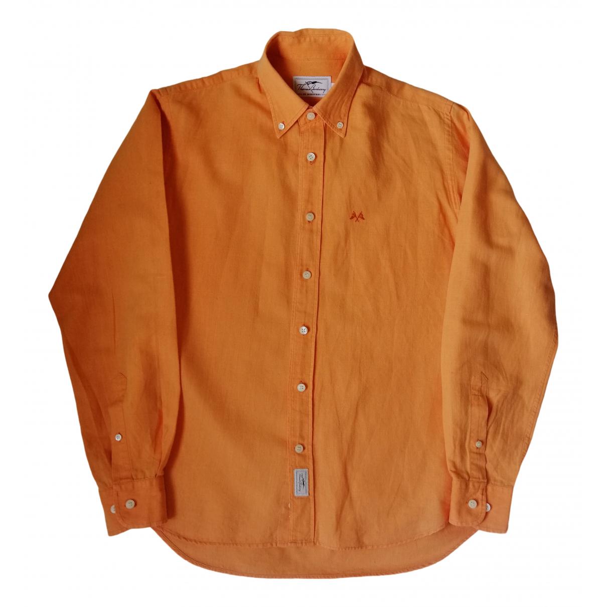 Burberry - Chemises   pour homme en lin - orange