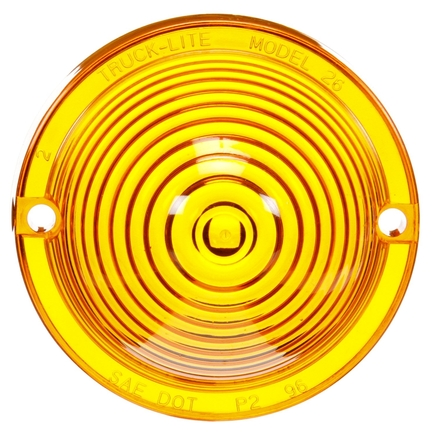 Truck Lite 99066Y - Round, Yellow, Acrylic, Replacement Lens For M/...