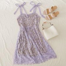 Cami Kleid mit Falten, Knoten Traeger ohne Top