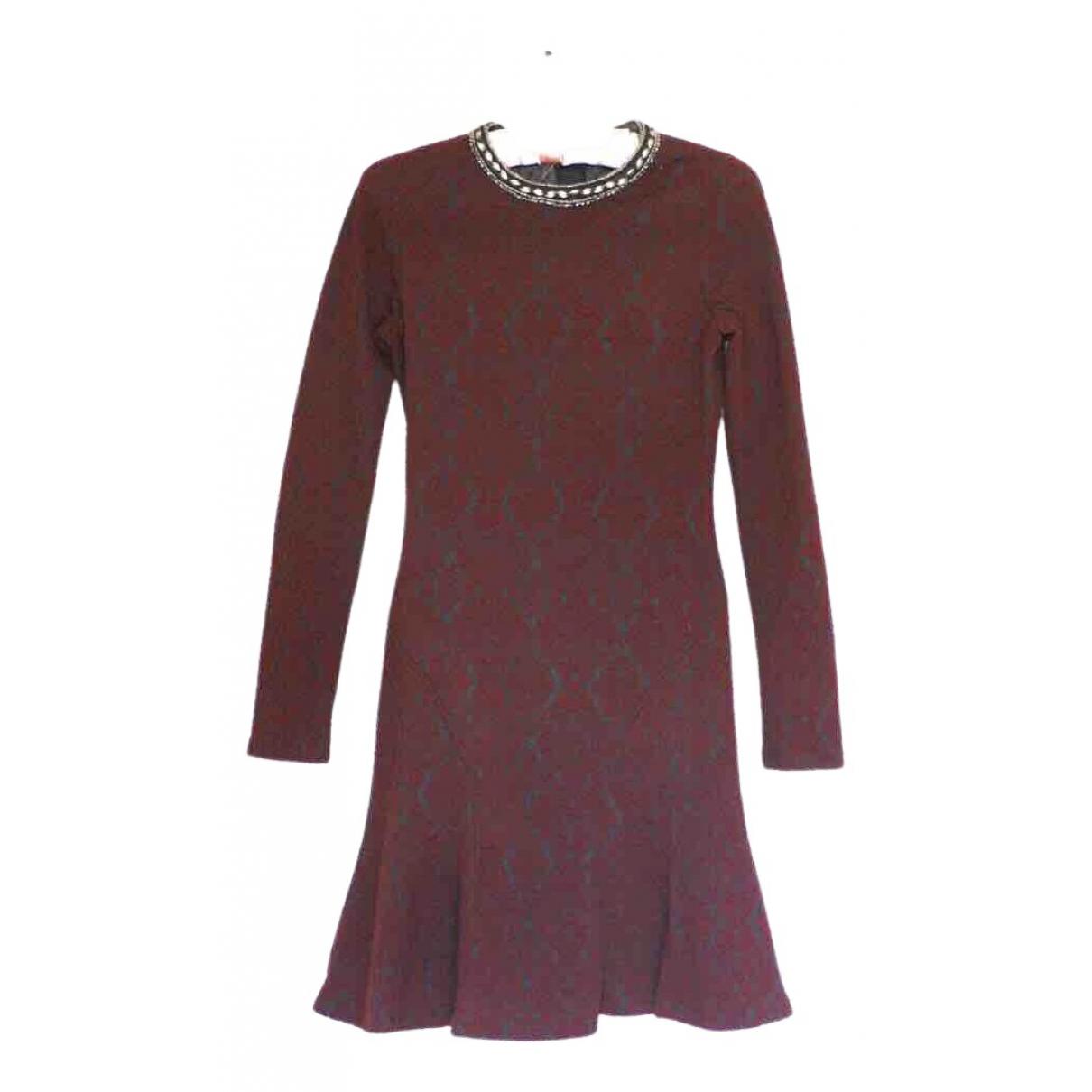 The Kooples Fall Winter 2019 Kleid in  Bordeauxrot Polyester