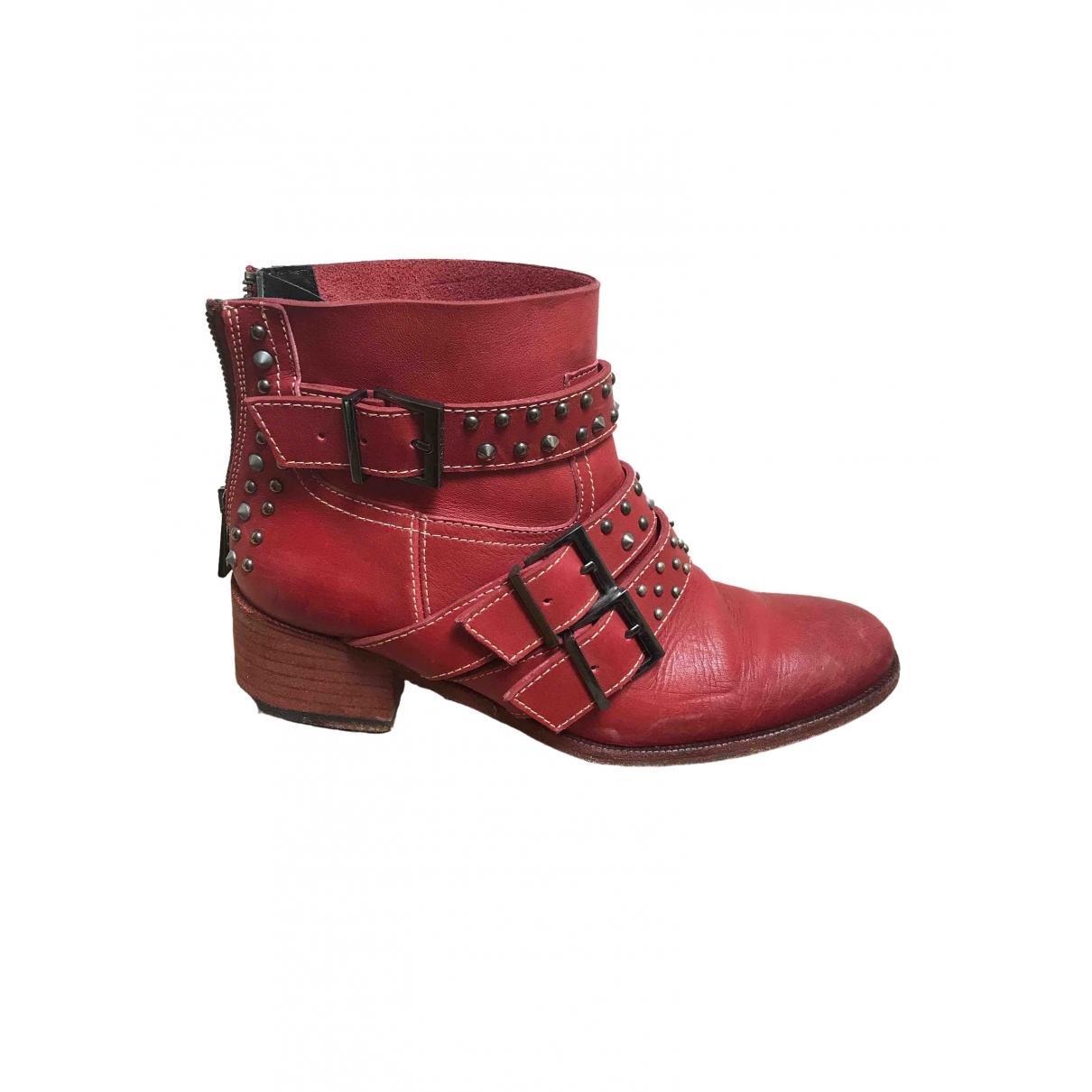 Zadig & Voltaire \N Stiefel in  Rot Leder