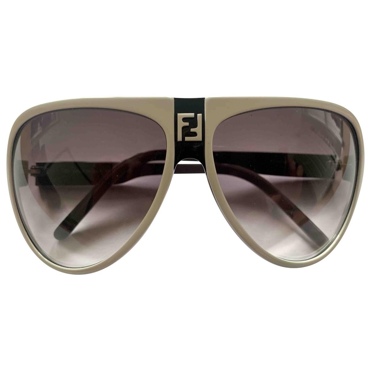 Fendi \N Sonnenbrillen in  Weiss Kunststoff