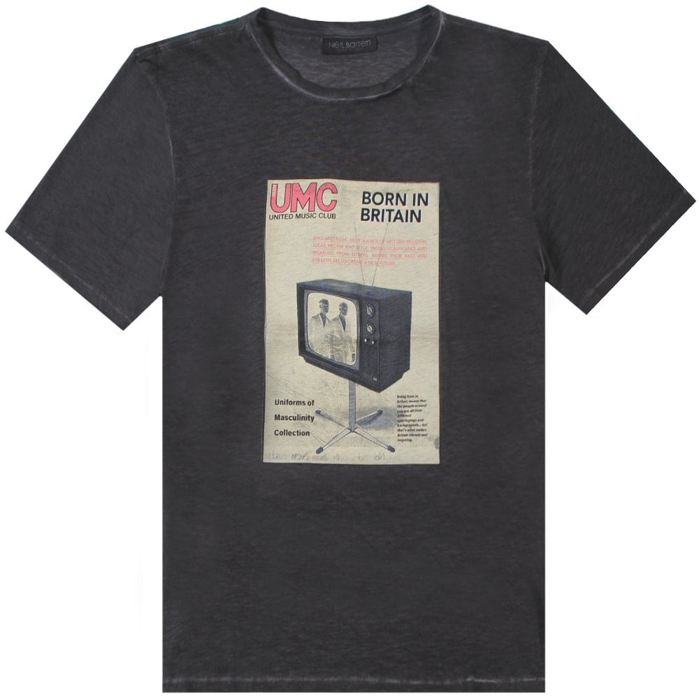 Neil Barrett 'UMC' Graphic Print T-Shirt Colour: GREY, Size: MEDIUM