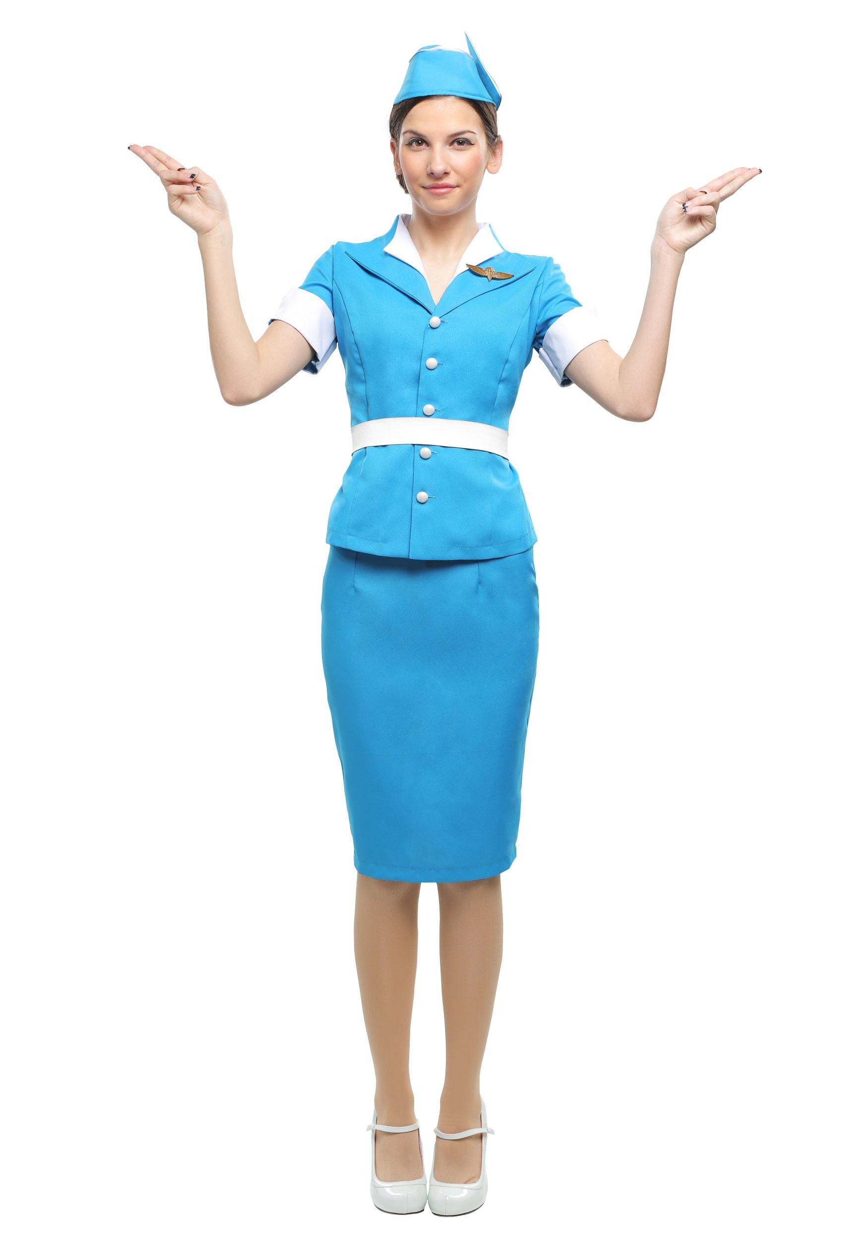 Plus Size Flight Attendant Costume for Women