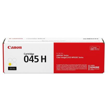 Canon 045H 1243C001 Original Yellow Toner Cartridge High Yield