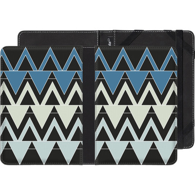 Amazon Kindle Touch eBook Reader Huelle - Blue Triangles von caseable Designs