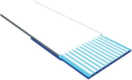 Samtec 10 Way Unscreened Flat Ribbon Cable, 4 mm Width, Series FJH