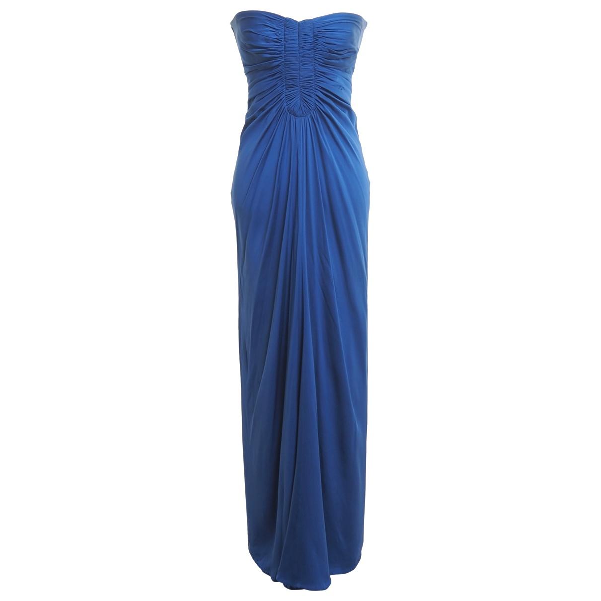 Amanda Wakeley \N Kleid in  Blau Seide