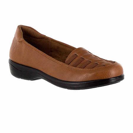 Easy Street Womens Genesis Slip-On Shoe, 8 1/2 Narrow, Beige