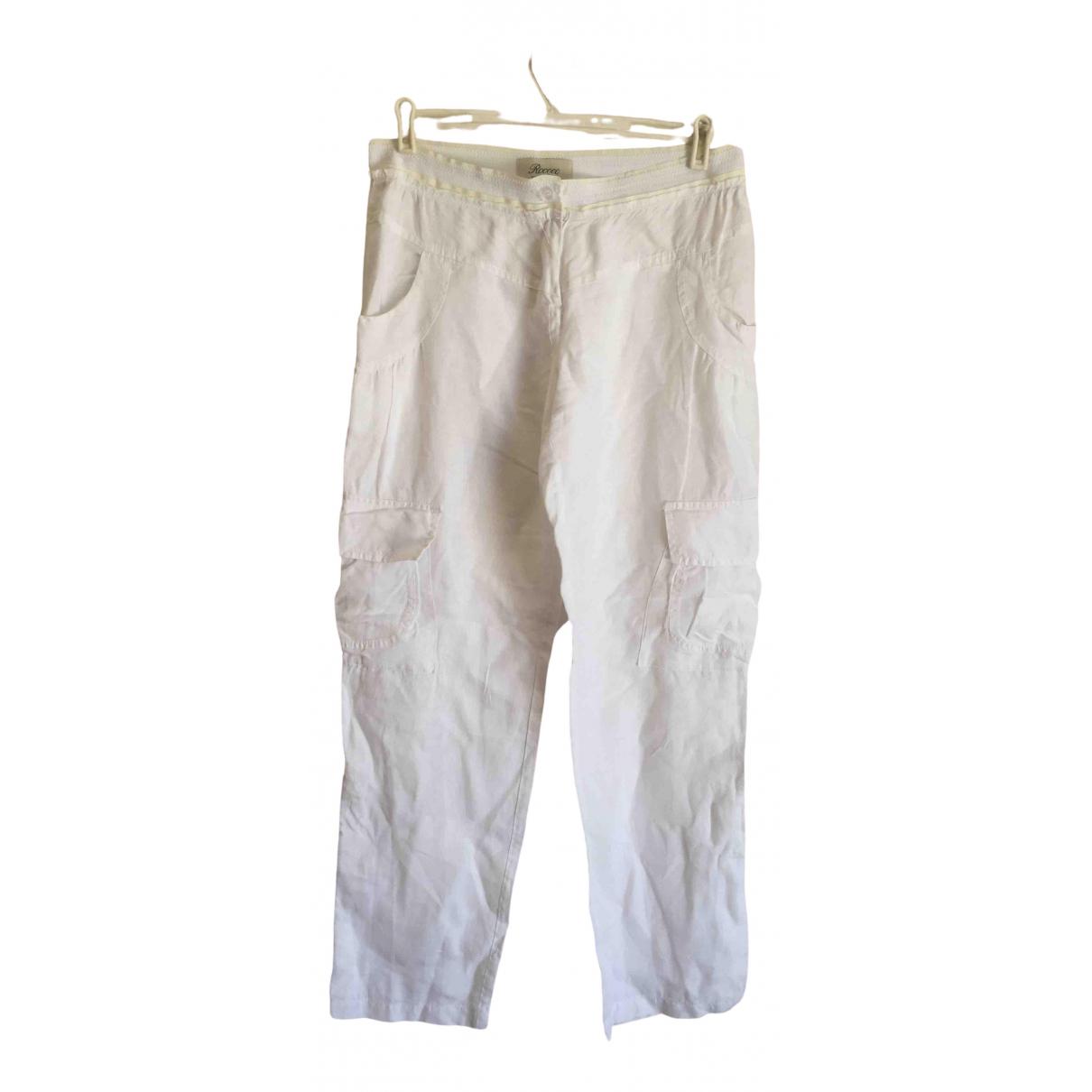 Pantalon largo Oversize de Lino Non Signe / Unsigned