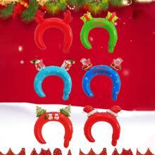 10pcs Random Christmas Party Balloon Headband