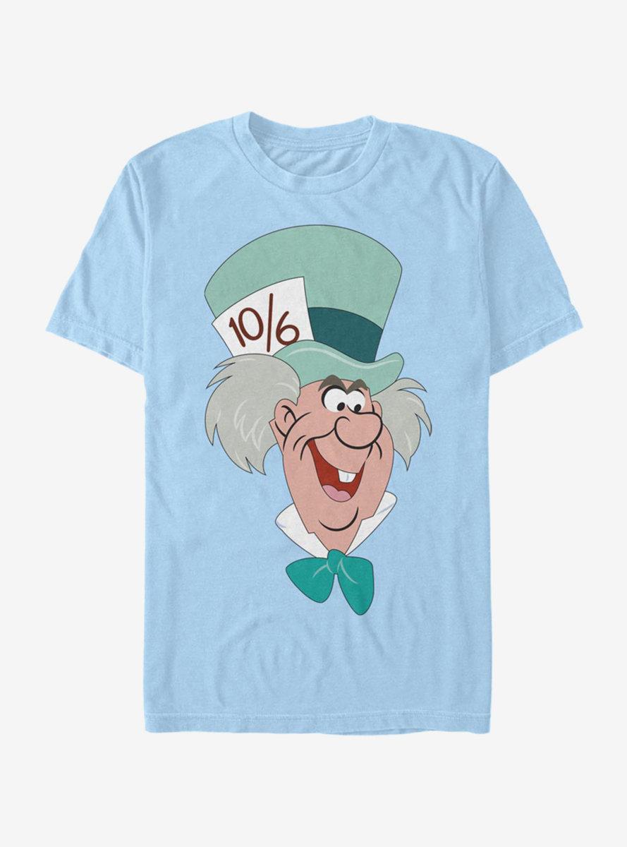 Disney Alice In Wonderland Mad Hatter Big Face T-Shirt