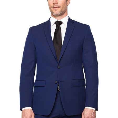 Van Heusen Mens Stretch Slim Fit Suit Jacket, 44 Long, Blue