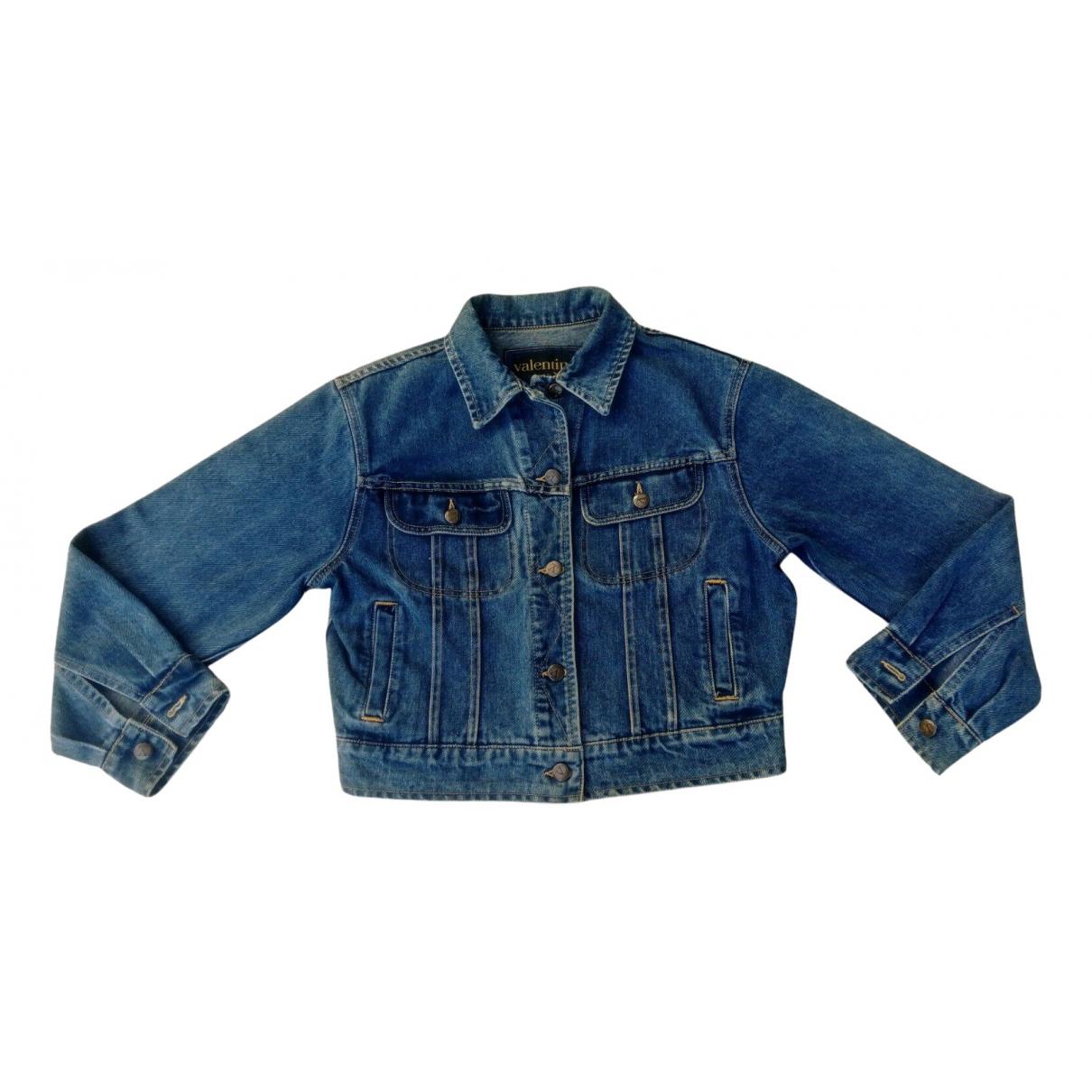 Valentino Garavani N Blue Denim - Jeans jacket for Women 36 FR