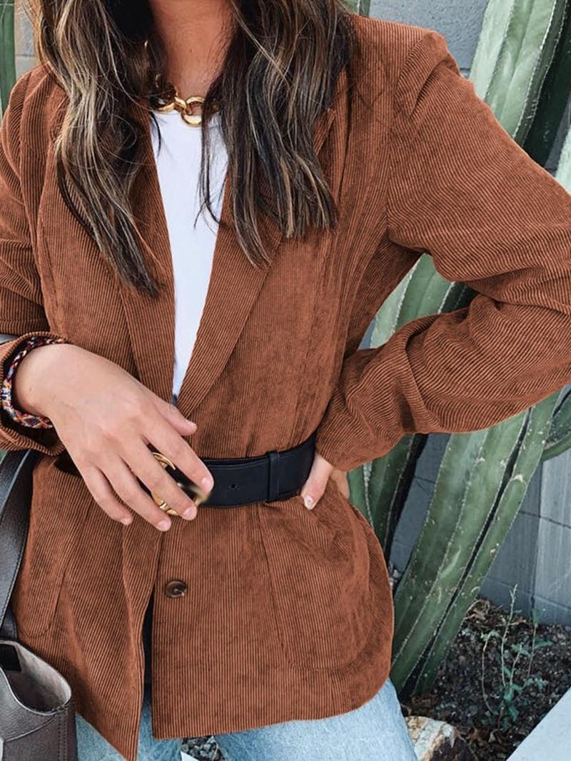 Ericdress Long Sleeve Plain Mid-Length Casual Blazer