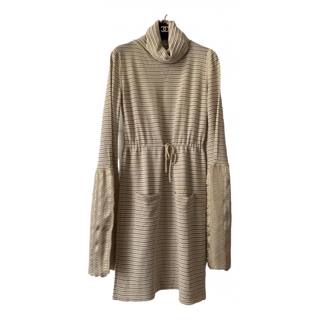 Chanel - Robe   pour femme en cachemire - beige