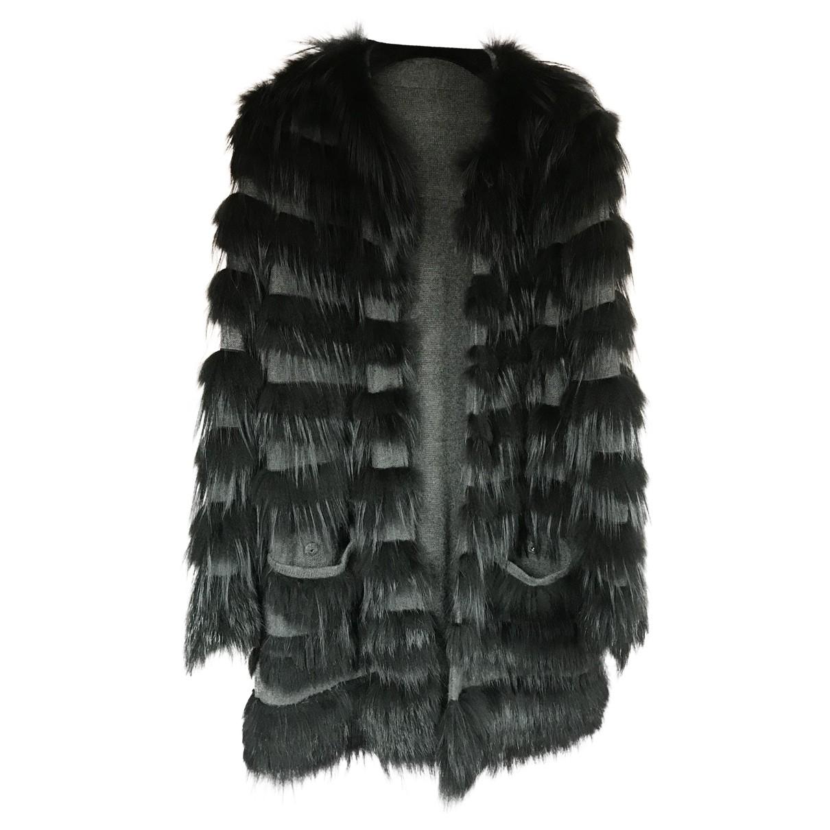 Bally - Veste   pour femme en renard - noir