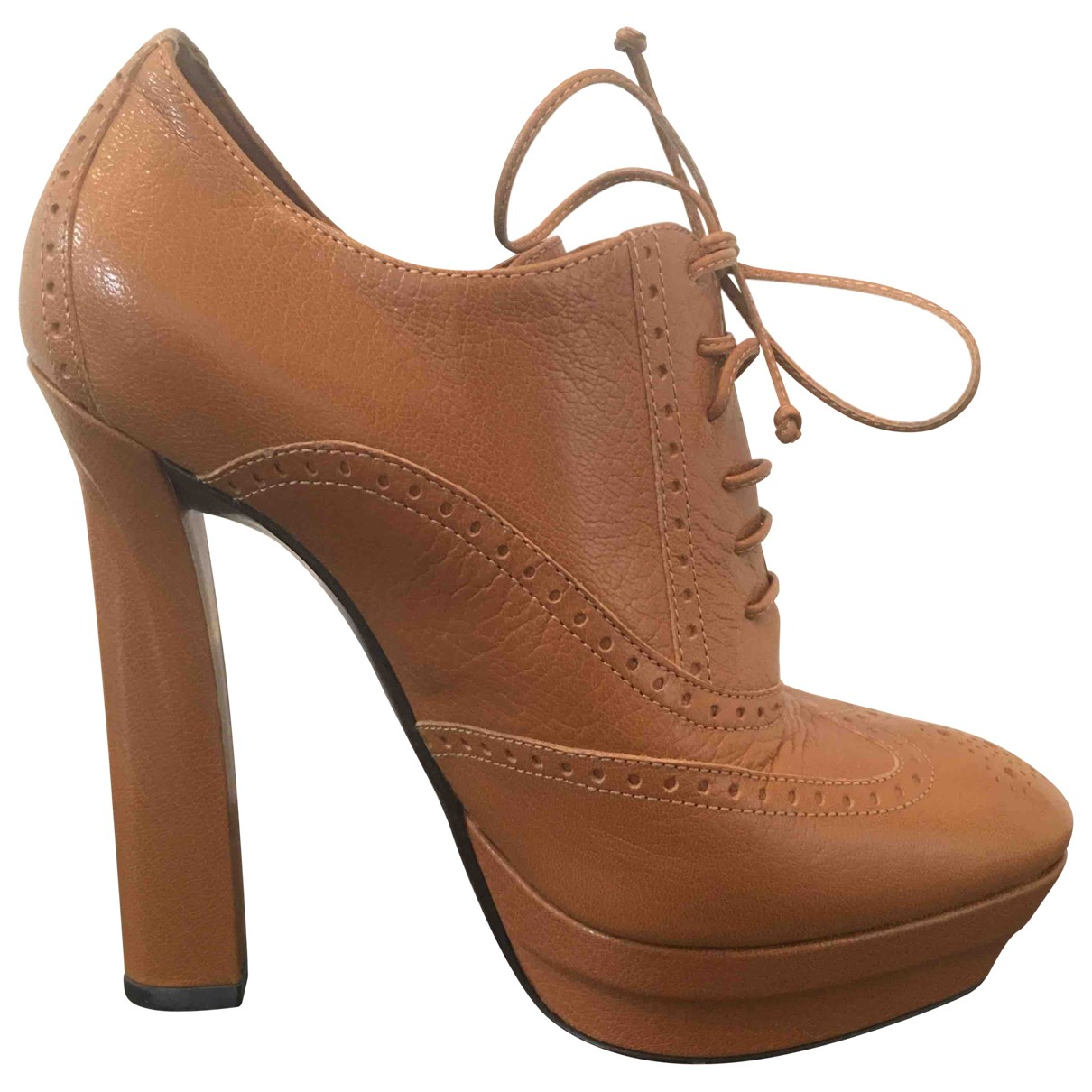 Bottega Veneta \N Camel Leather Heels for Women 37 IT